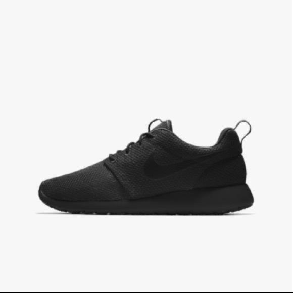 eb0fdb343f8 All Black Nike Roshe One Essential ID Women s. M 5b733626b6a94291d3402556